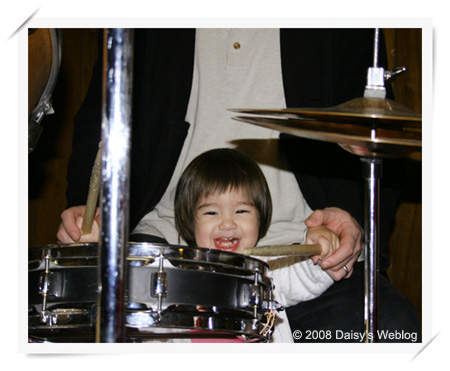 Anya Playing Drums